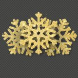 La plantilla de la tarjeta de Navidad con los copos de nieve brillantes del oro cubrió el objeto EPS 10 ilustración del vector