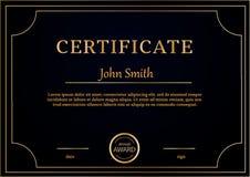 La plantilla del certificado concede tamaño del fondo A4 del diploma Imagen de archivo