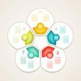 La plantilla del diseño de Infographic se puede utilizar para la disposición del flujo de trabajo, diagrama Imagen de archivo