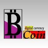 La plantilla del emblema del bitcoin Imagenes de archivo