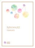 La plantilla del folleto escribe palabra del texto Imagen de archivo