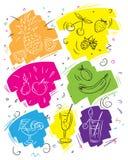 La plantilla del menú del verano, imagen del contorno estilizó a mano, para las barras y los cafés libre illustration