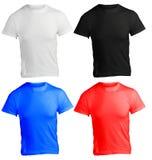 La plantilla en blanco de la camisa de los hombres en muchos colorea Fotos de archivo libres de regalías