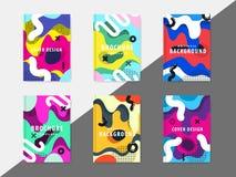 La plantilla enrrollada del diseño imprime fot productos Fotografía de archivo libre de regalías