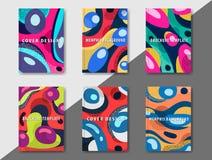 La plantilla enrrollada del diseño imprime fot productos Foto de archivo libre de regalías