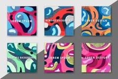 La plantilla enrrollada del diseño imprime fot productos Imagen de archivo libre de regalías