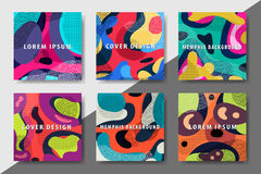 La plantilla enrrollada del diseño imprime fot productos Imágenes de archivo libres de regalías