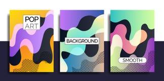 La plantilla enrrollada del diseño imprime fot productos Imagenes de archivo