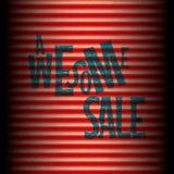 La plantilla roja más grande del rojo de la venta del almacén Foto de archivo