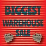 La plantilla roja más grande del rojo de la venta del almacén Imágenes de archivo libres de regalías