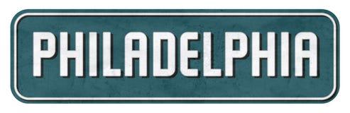 La plaque de rue de Philadelphie en Eagles colore le NFL images libres de droits