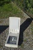 La plaque de verre d'un vieux scanner photographie stock libre de droits