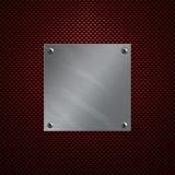 La plaque en aluminium s'est boulonnée à une fibre de carbone image libre de droits
