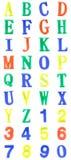 La plastica di colore segna l'alfabeto con lettere Fotografia Stock Libera da Diritti