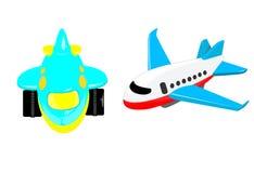 La plastica gioca l'aeroplano Immagini Stock