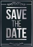 La plata ahorra la invitación de boda de la fecha ilustración del vector