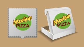 La plata del vector de Digitaces recicla la entrega de papel de la pizza ilustración del vector