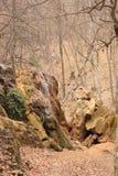 La plata fluye la cascada en Crimea Imagen de archivo libre de regalías