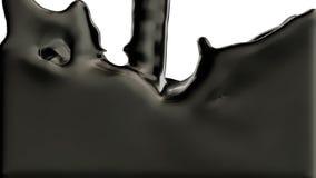 La plata líquida fluye en la pantalla y la llena del canal alfa ilustración del vector
