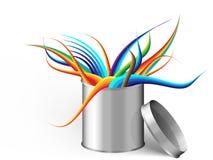 La plata puede con tema abstracto Imagen de archivo libre de regalías