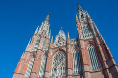 La Plata's Huge Cathedral near Buenos Aires, Argentina Royalty Free Stock Photo