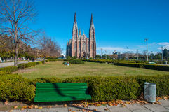 La Plata's Huge Cathedral near Buenos Aires, Argentina Stock Photography