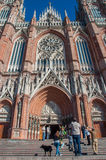 La Plata's Huge Cathedral near Buenos Aires, Argentina Royalty Free Stock Image
