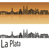La Plata skyline Royalty Free Stock Photos
