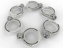 La plata suena el modelo circular Imágenes de archivo libres de regalías