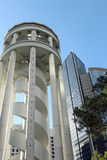 La plataforma de observación en Hong Kong Park Fotografía de archivo