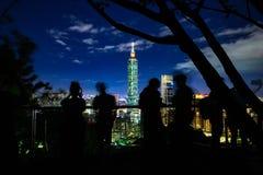 La plataforma de observación de la montaña del elefante, Taipei fotos de archivo libres de regalías