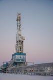 La plataforma de perforación a perforar para el petróleo y gas Imagen de archivo