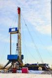 La plataforma de perforación a perforar para el petróleo y gas Fotografía de archivo libre de regalías