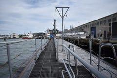 La plate-forme d'USS Pompanito, SS-383, 5 Photos libres de droits