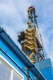La plate-forme de forage à forer pour le pétrole et le gaz Image stock