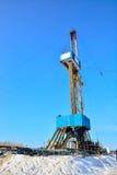 La plate-forme de forage à forer pour le pétrole et le gaz Photo libre de droits
