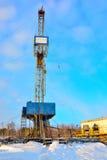 La plate-forme de forage à forer pour le pétrole et le gaz Photos libres de droits