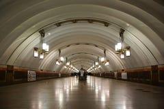 La plate-forme de la station de métro Ligovsky Prospekt images stock