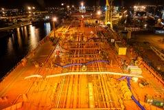 La plate-forme du bateau-citerne Image stock