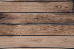 La plate-forme est sur le bateau Texture en bois surface brun Photos stock