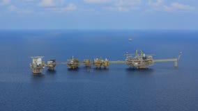 La plate-forme pétrolière extraterritoriale Photo stock