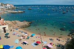 La Platjeta, Calella De palafrugell, Espagne image libre de droits
