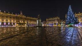 La-Platz Stanislas ein Nancy und ein Sohn Sapin Lizenzfreie Stockfotografie