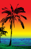 La playa stock de ilustración