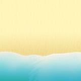 La playa arenosa del río, del mar o del océano stock de ilustración