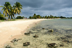 La playa arenosa nombró Playa Giron en Cuba Fotografía de archivo libre de regalías
