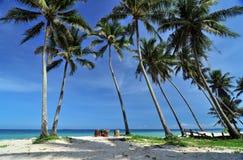 La playa blanca Fotos de archivo