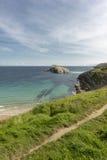 La playa de Arnia Foto de archivo libre de regalías