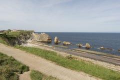 La playa de Arnia Fotografía de archivo libre de regalías
