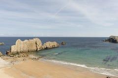 La playa de Arnia Fotografía de archivo